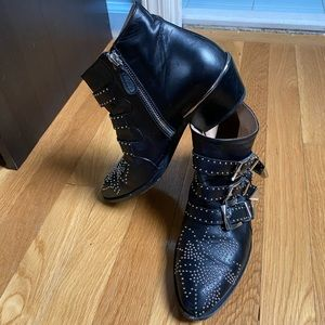Authentic CHLOE boots with silver hardware